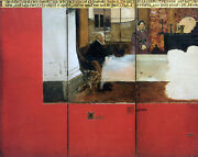 Family Picture Epps Panels 1 3 Alma Tadema Artist Painting Oil Canvas Repro Deco