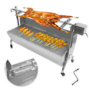 46 Large Rotisserie Spit Bbq Spit Roaster Pig Lamb Goat Chicken Stainless Steel