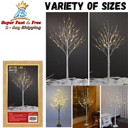 Led Lighted Birch Tree Warm White Christmas Tree Decoration Indoor Outdoor Use