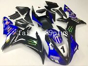 Blue Black White Pre-drilled Abs Injection Fairing Kit Fit For 2002 2003 Yzf R1