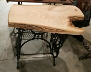 Lot 2 Rustic Amish Built Live Edge Coffee Table Sewing Frame Very Nice 36x22