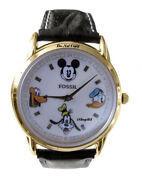 New Disney Fossil Mickey Mouse Pluto Goofy Donald Duck Limited Edition Watch