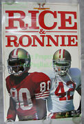 Nitf Vintage Nike Poster Rice And Ronnie 49ers Jerry Lott Rice-a-roni ☆ Laminated