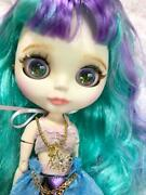 Icy Doll Customized Matte Skin Green Purple Hair Mermaid Rare F/s From Japan