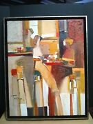 Painting Yuri Tremler Martini Bar24x30 Original Oil/canvass Signed And Framed