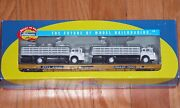 Athearn 92736 60and039 Flat Car With 2 Stake Bed Trucks Trailer Train Ttx Ottx 91982