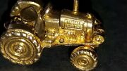 Gold Vintage Tractor Pendant/large Charm.