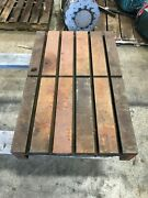 34.5 X 15.5 X 5 Steel Welding T-slotted Table Cast Iron Layout 5 T-slot