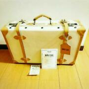 Novelty Suitcase Bag Mon Cafe Paris Satin Quilt With Lock Unused F/s From Japan