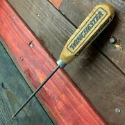 Winchester Advertising Ice Pick Wood Handle Antique Finish