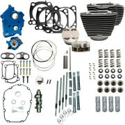 Sands 114 128 Water Cooled Power Package Chain Drive Black Chrome Harley M8 17+