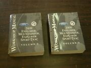 Oem Ford 2009 Explorer + Mountaineer Shop Manuals Books + Wiring Diagram Nos
