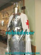 Genuine Medieval Knight Suit Of With Sword Templar Combat Full Body Armour Stand