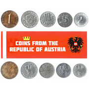 5 Austrian Coins Different European Coins Foreign Currency, Valuable Money