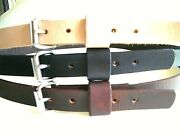 1 .1/4 W Heavy Duty S.s Buckle Thick Leather Hand Made Work Belt Tools Holster