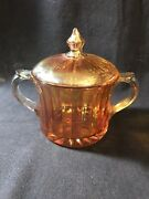 Vintage Glassware Collectibles Amber Covered Candy Dish 5.25andrdquo 209