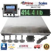 Ntep 48 X 48 4and039 Floor Scale Fixed Top Stainless Steel Scoreboard 2000 Lbs