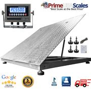 Ntep 48 X 48 4' Diamond Plate Lift-top Stainless Steel Floor Scale 2,000 Lb