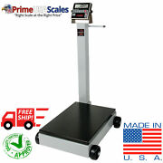 Portable Floor Scale 1,000 Lb With Wheels Legal For Trade Ntep Approved