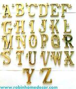 Decor Lux Solid 2 Height Brass Polished Hotel House 26 Alphabet Letters A To Z