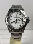 1990's Mens Rolex Stainless Steel Explorer Ii Date Watch 40mm W/white Dial 16570