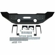 Mbrp 131174lx Front Full Width Winch Bumper Package - Linex Coated For Jeep Jk