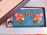 Gg Marmont Long Wallet Unused Japan Limited Release Genuine Rare Denim F/s