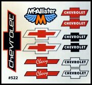 Rc Car Decals, 1/10th,chevy Bowtie Logo Late Models,street Stocks, Dirt Oval 522
