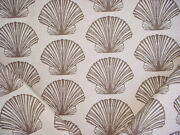 2-5/8y Craftex Bark Brown Sand Seashell Clam Tapestry Upholstery Fabric