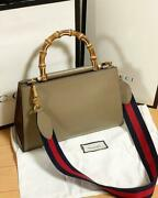 Nim Fair Japan Limited Edition Size M Hand Shoulder Bag Bamboo Leather F/s