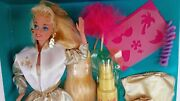 Collectible Hollywood Hair Barbie Doll By Mattel . Deluxe Play Set .