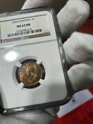 1924 Canada 1 Cent Ngc Ms-63 Rb. Rare Semi Key Date.