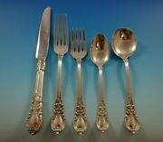 American Victorian By Lunt Sterling Silver Flatware Set 8 Service 40 Pieces