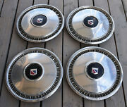 Rare Complete Set 4 Buick 70and039s Or 80and039s Wheel Covers Hubcaps Oem Vintage Hub Caps