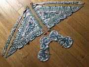 À Qing Silk Flag Banner Set For Chinese Sword Collector