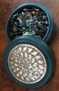 Turquoise Junk Drawer Jewelry Lot Mixed Metals Natural Handmade Silver Treasure