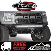 Add Stealth Fighter Winch Front Bumper Black For 2015-2017 Ford F150