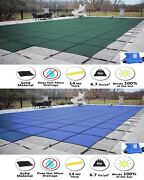 Gli Valuex Solid Swimming Pool Winter Safety Cover W/ Center End Step And Pump