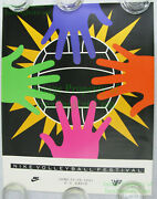 Nitf ☆ Vintage ☆ Old Stock ☆ Nike Volleyball Poster ☆ 1991 ☆ Uc Davis Festival
