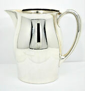 9072- Early 1900 Vintage Wilcox And Wagoner 4pt Sterling Silver Pitcher -mono Gwe