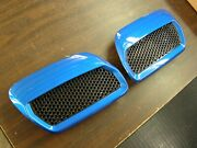 New Take-off Oem Ford 2018 2019 2020 Mustang Hood Heat Extractors Blue Nos