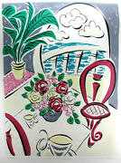 Cafandeacute Style Monotype Prints By Famous Artist Mary Graves Three 1/1s - Signed