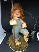 Vintage Annabelle Doll Fishing Freckled Boy 1956 Autographed Thorndike Nh
