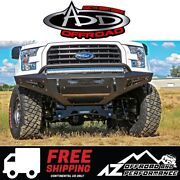 Add Honeybadger Winch Front Bumper Black For 2015-2017 Ford F150