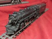 Pre War Lionel Lines 1666 Steam Locomotive 2-6-2 With Tender And 4 Cars O Gauge