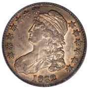 1832 50c Small Letters Capped Bust Half Dollar Pcgs Au50 O-110
