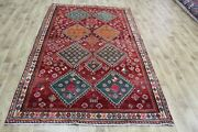 Old Handmade Persian Qashqaii Rug Outstanding Design And Color 240 X 150 Cm