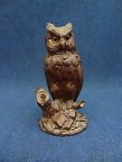 Black Forest Humidor Owl Fitted With Perfume Bottle Small Humidor Antique