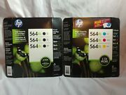 6 Pack Hp Genuine 564xl High Capacity Color Ink Cartridges Combo Bl, Cy, Ma And Ye