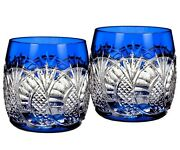 Waterford Oand039leary Seahorse Cobalt Blue Set/2 Tumblers Dof Glasses 40000645 New